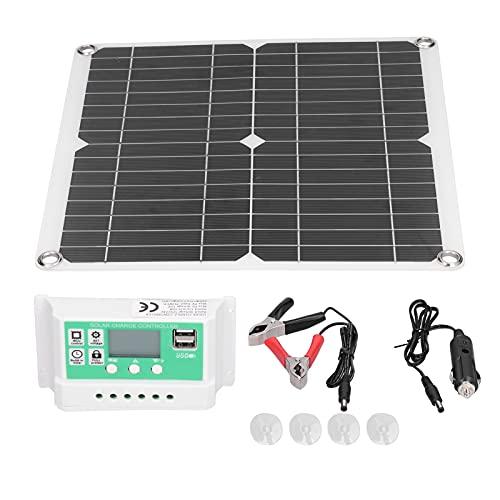 Panel solar monocristalino, controlador de carga solar 40W 18V para senderismo para acampar para ciclismo al aire libre para montañismo