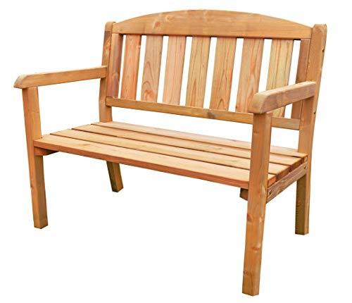 AVANTI TRENDSTORE - Double - Panca da giardino in legno di pino massiccio. (110x97x63 cm)