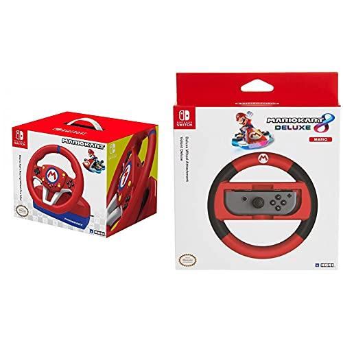 HORI Mario Kart Lenkrad Mini & Nintendo Switch Mario Kart 8 Deluxe Lenkrad (Mario Version)