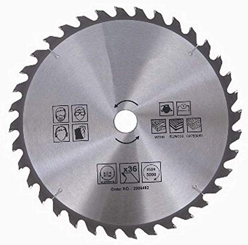 1 hoja de sierra circular HM para madera y plástico, 36 dientes, diámetro 315 mm x 30 mm, hoja de sierra circular