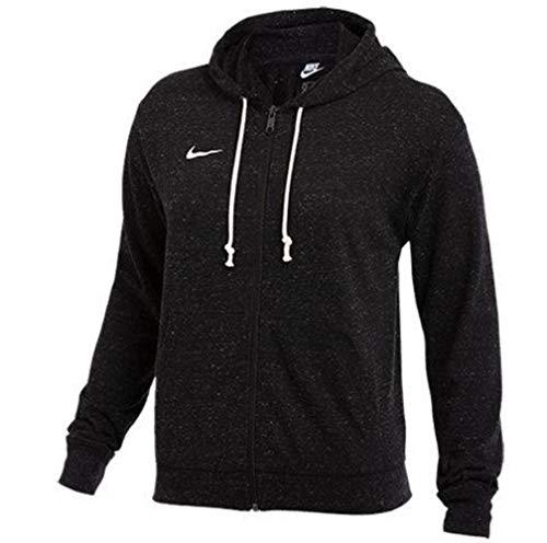 Nike Sportswear Gym Vintage Hoodie (Black, Large)