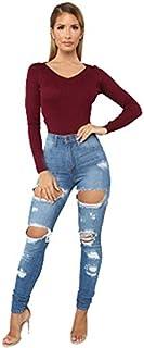 Jeans con jeans da donna con strappato con jeans da donna con jeans elastico