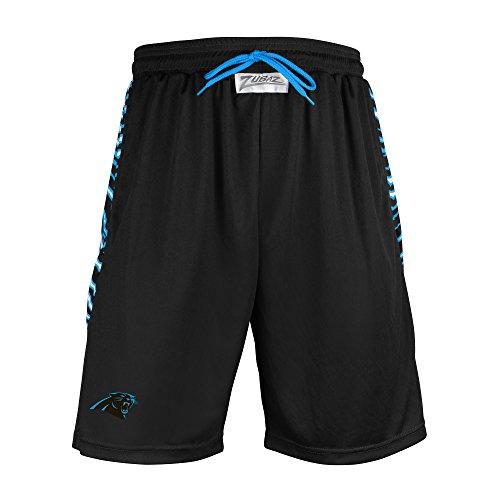 Zubaz NFL New York Giants Men's Zebra Print Accent Team Logo Active Shorts, X-Large, Blue