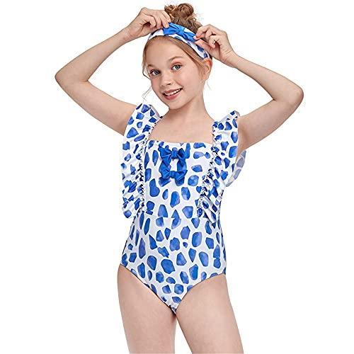 Chicas para niños Traje de natación incluido Traje de natación para niñas niños traje de baño traje de baño verano playa vacaciones baño baño Traje de baño de bikini ( Color : Blue , Size : 116CM )