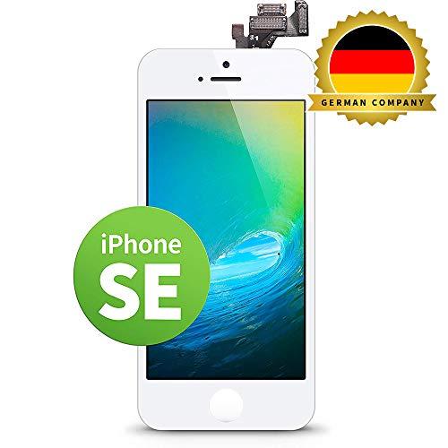 GIGA Fixxoo kompatibel mit iPhone SE LCD Touchscreen Retina Display Ersatz in Weiß für Einfache Reparatur, FaceTime Kamera (kein Set)