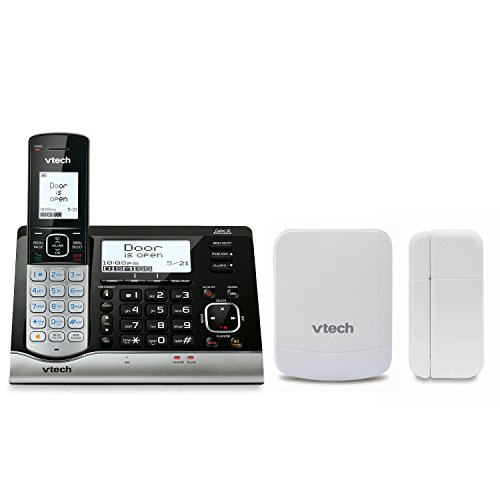 Price comparison product image VTech VC7151-109 DECT 6.0 Cordless Telephone with Wireless Monitoring System,  Garage Door Sensor,  and Open / Closed Sensor for Doors or Windows