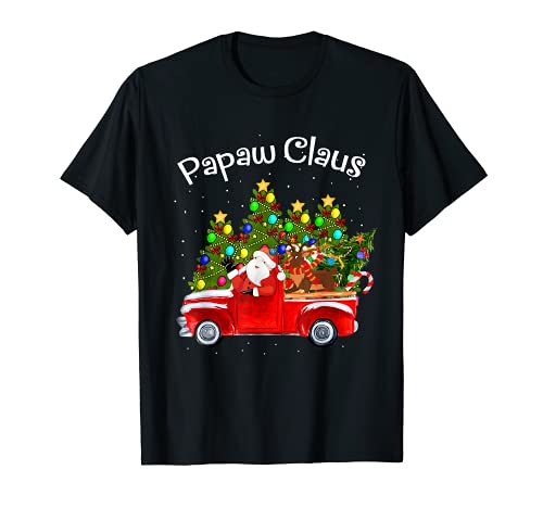 Papaw Claus Car Santa Reno Árbol de Navidad Camiseta