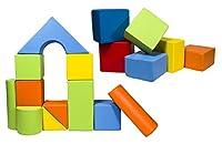 Velinda Completo 17 grandi mattoni,blocchi,cubi in schiuma gioco bambino, scuola materna (colore: mix1) #1