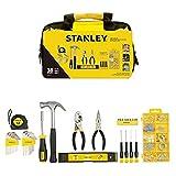 STANLEY STMT0-74101 - Juego de herramientas 38 piezas, incluye martillo, alicates, flexómetro y destornillador