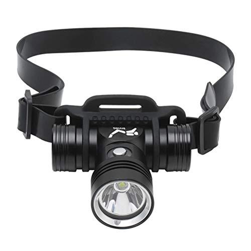 Prevessel Linterna Frontal de Buceo Recargable, Linterna Frontal USB Superbrillante, Linterna Impermeable...
