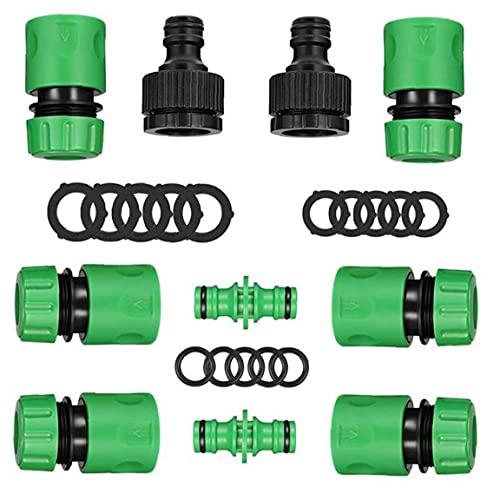 Conectores de Manguera Conjunto de Tubos adjuntos Kit de tubería Tap Conectores Montaje del Sistema de Herramienta 28PCS Accesorios de riego