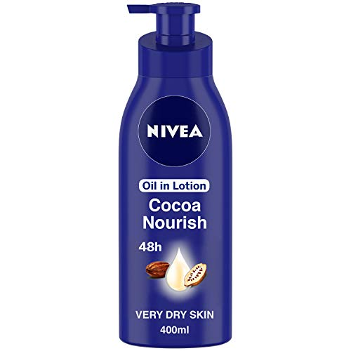 NIVEA Body Lotion, Oil in Lotion Cocoa Nourish, For Very Dry Skin,...