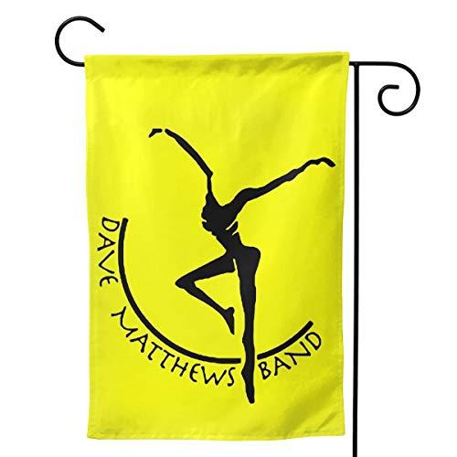 BHWH006 Doppelseitiges Dave Matthews Band Gartenflagge Willkommen Dekorative Gartenflaggen, Schwarz, 12.5