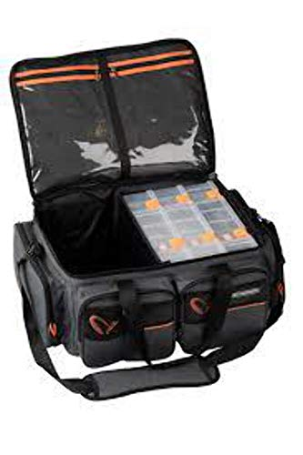 Savage Gear System Box Bag XL + Cover - Kunstködertasche für Gummifische, Wobbler & Jerkbaits, Angeltasche, Blinkertasche, Tasche