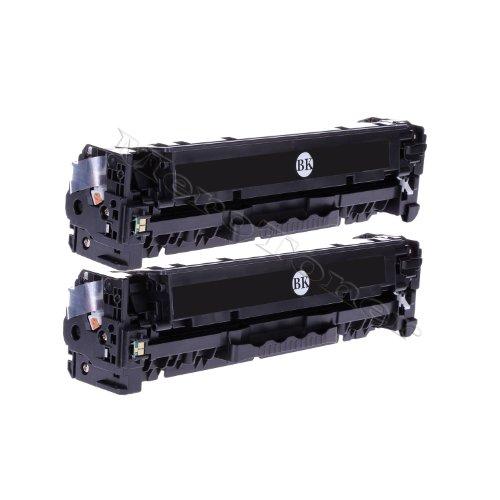 2x Toner (2x Schwarz/Black) Kompatibel zu HP Color LaserJet (CE320A, CE 320A, 128A 128 A) HP CLJ CP1525, CP-1525N/NW, CM1415, CM-1415FN/FNW, CM1415, CM-1415MFP