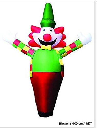 Clown Géant Gonflable Hauteur 4 Mètres avec Soufflerie Integrée