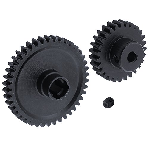 Hobbypark Metal Diff Differential Main Gear 42T & Motor Pinion Gear 27T Set for WLtoys A959-B A969-B A979-B K929-B 1/18 Scale RC Car Upgrade Parts (Black)