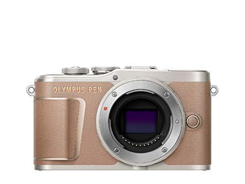 Olympus PEN E-PL10 Micro Four Thirds System Kamera, 16 Megapixel, Bildstabilisierung im Gehäuse, Schwenkbarer Monitor, 4K Video, Wi-Fi, 16 Art Filter, Touch AF Auslöser, 9 erweiterte Fotomodi, Braun