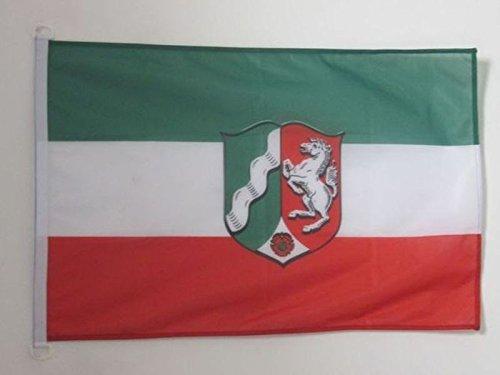 AZ FLAG Flagge Nordrhein-Westfalen 90x60cm - Nordrhein-Westfalen Fahne 60 x 90 cm Aussenverwendung - flaggen Top Qualität