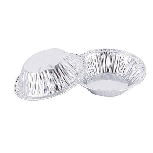 Chunyang 100pcs Disposable Round Egg Tart Mold Aluminium Foil Cups Baking Cookie Pudding Cake Mould