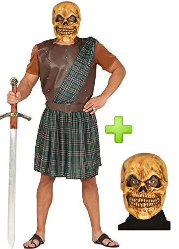 Disfraz de Guerrero Escoces Calavera