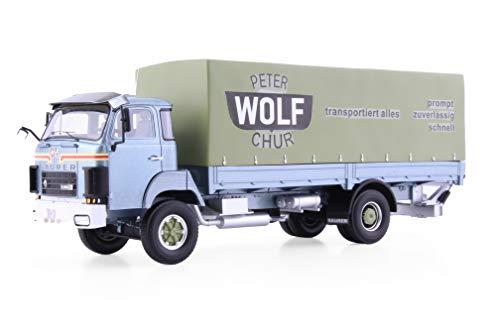 Arwci ACE 85005524 1/43 Saurer D250B Pritsche Plane, Version Peter Wolf Chur Die- Cast, Sammlermodelle