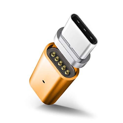 Niza Q10 2.4A de salida Micro USB hembra a USB-C / tipo C macho magnética de transmisión de datos al adaptador de carga, for la galaxia S8 y S8 + / G6 LG / Huawei P10 y P10 Plus / Xiaomi Mi 6 & Max 2