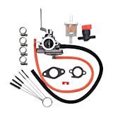 HuthBrother 640290 Carburetor with Gasket Compatible with Tecumseh AV520 TV085XA 2-Cycle Vertical Engine Replaces 640263 631720A Carb