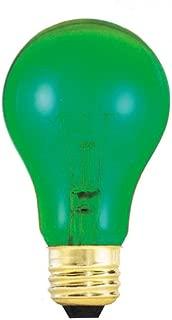 Forum Novelties 62669 Transparent Green Bulbrite 105425 25W A19 Bulb, 25 Watt