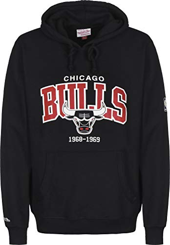 Mitchell & Ness Arch Logo Chicago Bulls Hoodie Black