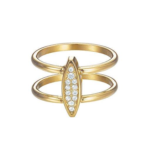 Esprit Damen-Ring Exclusive Edelstahl Glas weiß Brillantschliff - ESRG12856B170