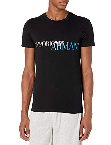 Emporio Armani Herren T-Shirts Pyjama-Oberteil (Top), schwarz, Groß