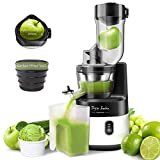Slow Juicer Machine Masticating, Sorbet Maker 55RPM Juice Extractor 3.4inch Wide Mouth Big Feed Chute for Vegetable Fruit Sorbet