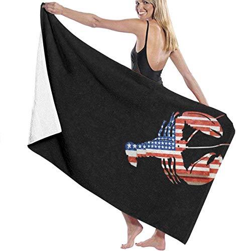 Nigel Tomm Toalla de playa, toalla de baño de secado rápido con la bandera americana, 32 x 52 pulgadas, toalla de gran tamaño para camping, piscina, spa