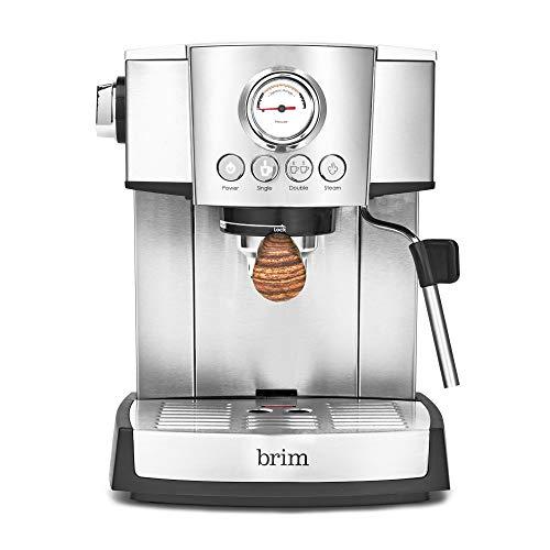 Brim 15 Bar Espresso Machine with wood accents