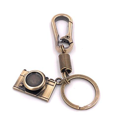 H-Customs Kamera Cam Schlüsselanhänger Anhänger aus Metall Bronze