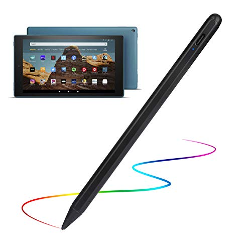Stylus Pens for Amazon Kindle Fire 10 Pencil, Evach Capacitive High Sensitivity Digital Pencil with 1.5mm Ultra Fine Tip Stylus Pencil for Amazon Kindle Fire 10 Pen, Black