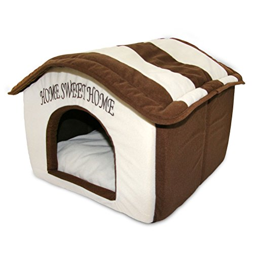 Best Pet Supplies, Inc. Casa para Mascotas portátil para Interiores, Brown Stripes (16' x 16')