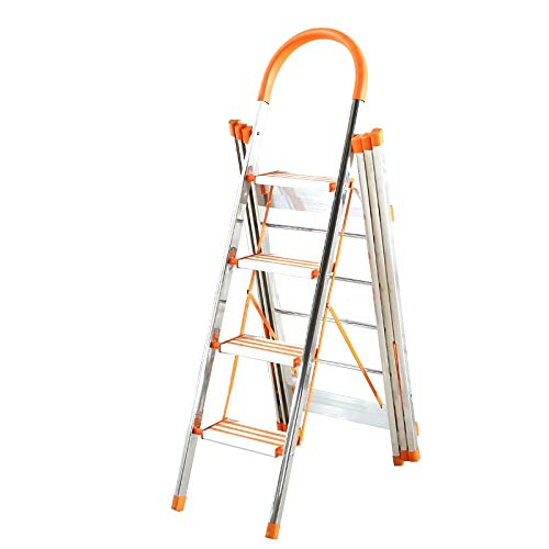 Bouwbenodigdheden Multifunctionele trapladders, Roestvrijstalen kleerhanger Vier stappen/Antislid/Handrail Ladder Handdoeken/kleding/quilts Droogrek bespaart ruimte 153 * 113cm