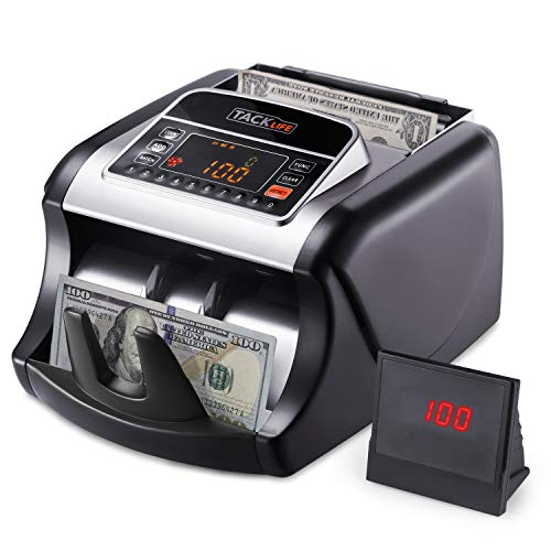 Money Counter with UV/MG/IR Detection, Bill Counting Machine with Counterfeit Bill Detection - LED...