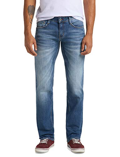 MUSTANG Herren Slim Fit Oregon Straight Jeans, Blau, 30W / 32L