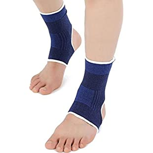Westeng 1Pair Blue Ankle Foot Feet Brace Support Protect Pads Elastic Sports Gym Ankle Pain Pad:Tudosobrediabetes