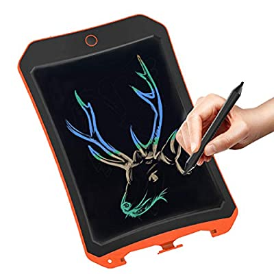 Spring&Color LCD electronic board toy for 4-9 year old boys, teenage boys and girls birthday present, Christmas gift, 8.5 inch handwritten paper drawing board, suitable for home and outdoor (orange C?