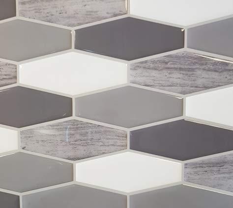 ELIKO - Azulejos adhesivos impermeables de 30,5 x 25 cm, color blanco (lote de 3)
