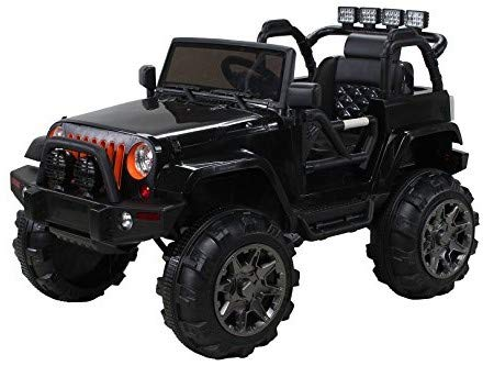 Actionbikes Motors Kinder Elektroauto Offroad Jeep Adventure 2 x 35 Watt (Schwarz)