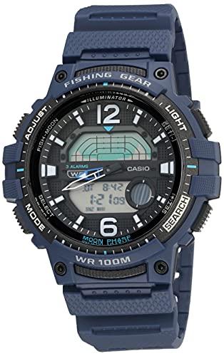 Casio Pro Trek - Reloj deportivo de cuarzo con correa de resina para hombre, Azul / Patchwork,