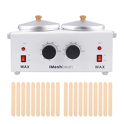 Professional Double Pot Wax Warmer Heater Electric Dual Pro Salon Hot Paraffin SPA Tool (Wax Heater Only)