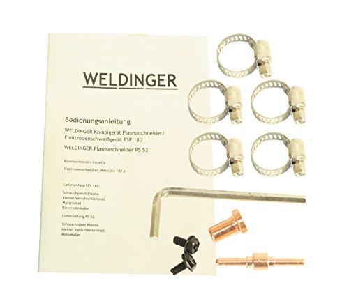 WELDINGER EPS180 Elektroden-Schweißinverter + Plasmaschneider Kombigerät 180A/45 A - 9
