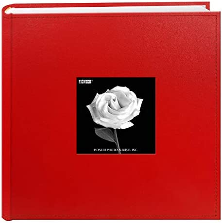 Pioneer Photo Albums 200 Pocket Sewn Leatherette Frame Cover Photo Album 4 by 6 Inch Red product image