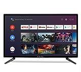 Level 32' Pouces Android 9.0 Smart TV 81cm HD LED Téléviseur (Google Assistant, Google Play Store, Prime Video, Netflix) Chromecast intégré, Triple Tuner, WiFi, Bluetooth [Classe énergétique A]